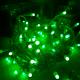 Гирлянда однотон (зеленая) 100 LED