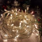 Гирлянда однотон (теплый белый) 100 LED