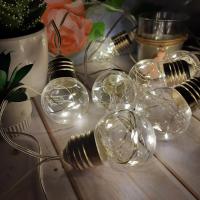 Гирлянда ретро лампочки, 12 LED
