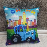 Детская подушка Синий трактор