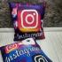 Подушка двухстороняя Instagram