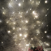 Роса штора, 144 LED, тёплый белый свет