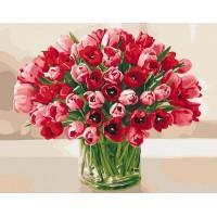 """Картина по номерам """"Страстные тюльпани """""""