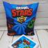 Яркая детская подушка Brawl Stars