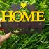 Двухцветная ключница из дерева home