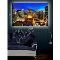 Картина с подсветкой «Вечерний  город»
