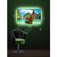 Картина с подсветкой «Лодка»