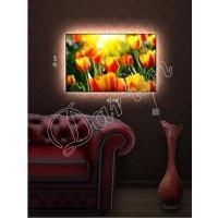 Картина с подсветкой «Солнечные тюльпаны»