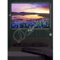 Картина с подсветкой «Цветы на берегу»