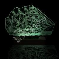 3D светильник «Парусник»