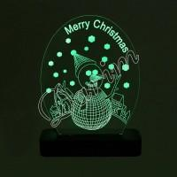 3D светильник «Merry Christmas»