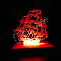 3D светильник «Шхуна»
