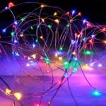 Гирлянда Роса (Мульти) 10 LED  на батарейках