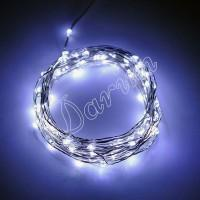 Гирлянда Роса (Белый холодный) 10 LED  на батарейках