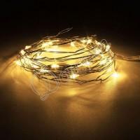 Гирлянда Роса (Белый теплый) 20 LED  на батарейках