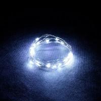 Гирлянда Роса (Белый холодный) 20 LED  на батарейках