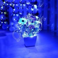 Гирлянда Роса (голубой) 50 LED  на батарейках