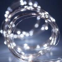 Гирлянда Роса (Белый холодный) 50 LED  на батарейках