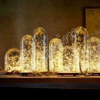 Гирлянда Роса (Белый теплый) 50 LED  на батарейках