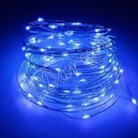 Гирлянда Роса (Голубой) 100 LED  на батарейках