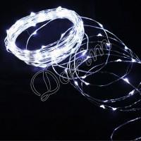 Гирлянда Роса (Белый холод.) 100 LED  на батарейках