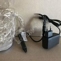 Гирлянда Роса Конский хвост (Белый холодный) 300 LED