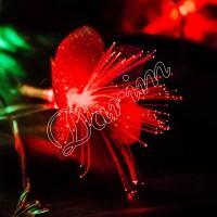 Гирлянда «Цветы» розовые 28 LED