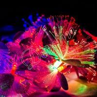 Гирлянда «Цветы» сиреневые 28 LED
