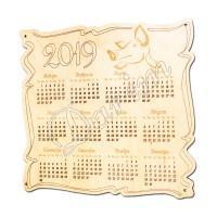 Декоративный календарь 2019