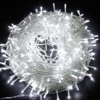 Гирлянда однотон (холодный белый) 200 LED