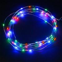 Гирлянда Роса (Мульти) 20 LED  на батарейках