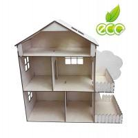 Кукольный домик с мансардой