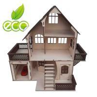 Кукольный домик с мансардой и гаражом